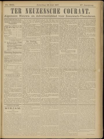 Ter Neuzensche Courant. Algemeen Nieuws- en Advertentieblad voor Zeeuwsch-Vlaanderen / Neuzensche Courant ... (idem) / (Algemeen) nieuws en advertentieblad voor Zeeuwsch-Vlaanderen 1917-07-28