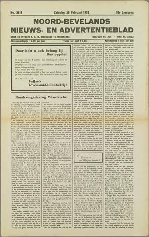 Noord-Bevelands Nieuws- en advertentieblad 1953-02-28