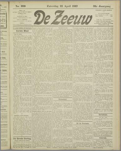 De Zeeuw. Christelijk-historisch nieuwsblad voor Zeeland 1917-04-21