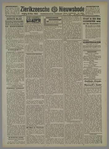 Zierikzeesche Nieuwsbode 1933-11-10