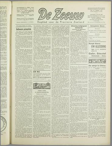 De Zeeuw. Christelijk-historisch nieuwsblad voor Zeeland 1937-12-11