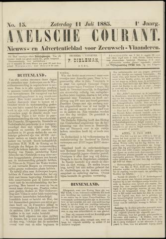 Axelsche Courant 1885-07-11