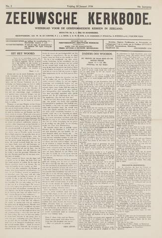 Zeeuwsche kerkbode, weekblad gewijd aan de belangen der gereformeerde kerken/ Zeeuwsch kerkblad 1936-01-10