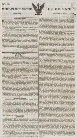 Middelburgsche Courant 1834-02-20