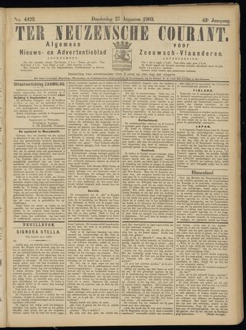 Ter Neuzensche Courant. Algemeen Nieuws- en Advertentieblad voor Zeeuwsch-Vlaanderen / Neuzensche Courant ... (idem) / (Algemeen) nieuws en advertentieblad voor Zeeuwsch-Vlaanderen 1903-08-27