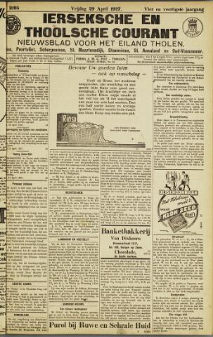 Ierseksche en Thoolsche Courant 1927-04-29