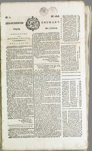 Zierikzeesche Courant 1826