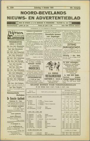 Noord-Bevelands Nieuws- en advertentieblad 1941-10-04