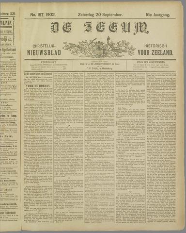 De Zeeuw. Christelijk-historisch nieuwsblad voor Zeeland 1902-09-20