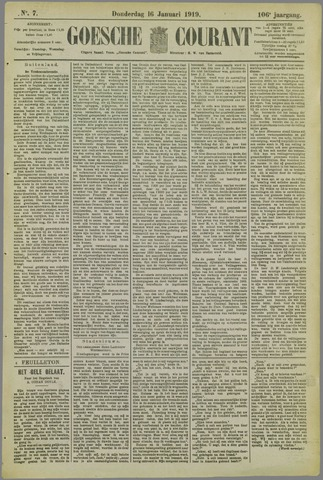 Goessche Courant 1919-01-16