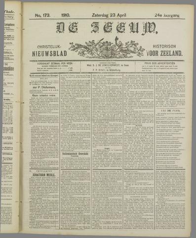 De Zeeuw. Christelijk-historisch nieuwsblad voor Zeeland 1910-04-23