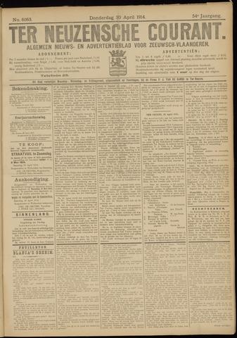 Ter Neuzensche Courant. Algemeen Nieuws- en Advertentieblad voor Zeeuwsch-Vlaanderen / Neuzensche Courant ... (idem) / (Algemeen) nieuws en advertentieblad voor Zeeuwsch-Vlaanderen 1914-04-30