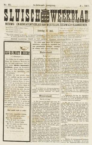 Sluisch Weekblad. Nieuws- en advertentieblad voor Westelijk Zeeuwsch-Vlaanderen 1877-06-22