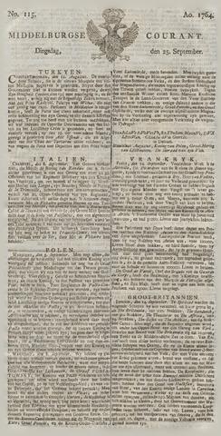 Middelburgsche Courant 1764-09-25