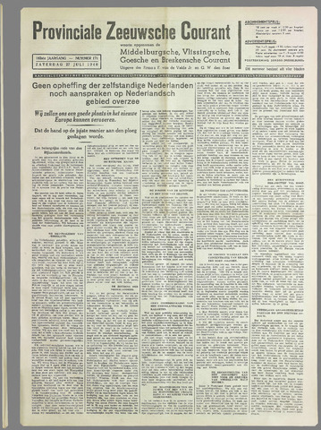 Provinciale Zeeuwse Courant 1940-07-27