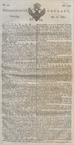 Middelburgsche Courant 1776-07-27