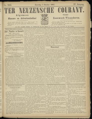 Ter Neuzensche Courant. Algemeen Nieuws- en Advertentieblad voor Zeeuwsch-Vlaanderen / Neuzensche Courant ... (idem) / (Algemeen) nieuws en advertentieblad voor Zeeuwsch-Vlaanderen 1887-10-01