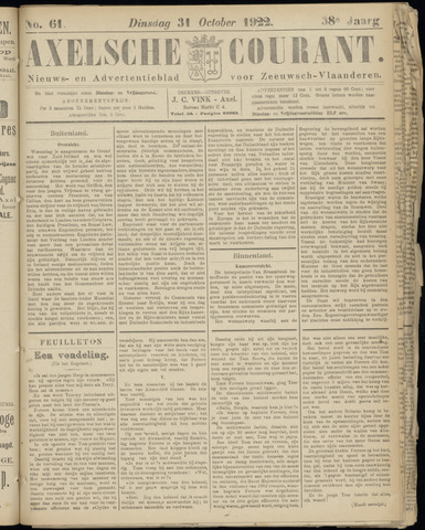 Axelsche Courant 1922-10-31