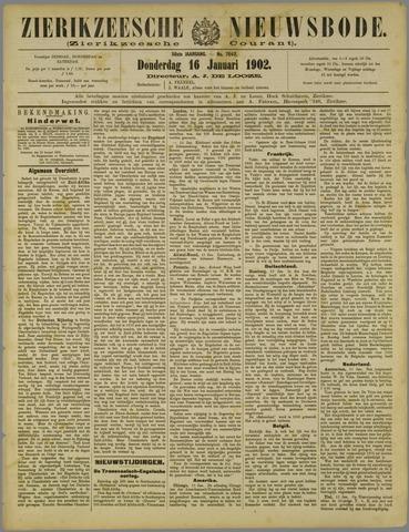 Zierikzeesche Nieuwsbode 1902-01-16