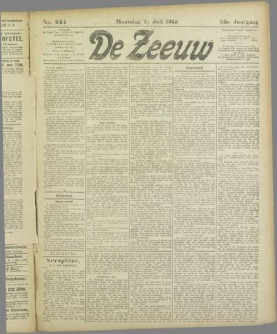 De Zeeuw. Christelijk-historisch nieuwsblad voor Zeeland 1919-07-21