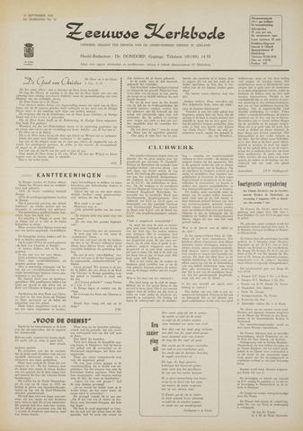 Zeeuwsche kerkbode, weekblad gewijd aan de belangen der gereformeerde kerken/ Zeeuwsch kerkblad 1970-09-10