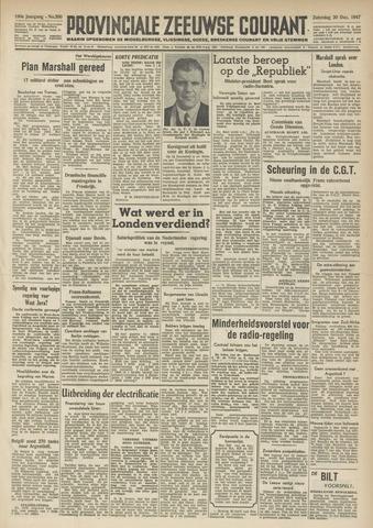 Provinciale Zeeuwse Courant 1947-12-20