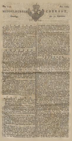 Middelburgsche Courant 1775-09-30