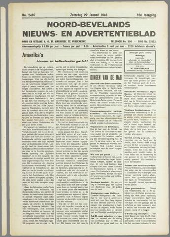 Noord-Bevelands Nieuws- en advertentieblad 1949-01-22