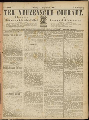 Ter Neuzensche Courant. Algemeen Nieuws- en Advertentieblad voor Zeeuwsch-Vlaanderen / Neuzensche Courant ... (idem) / (Algemeen) nieuws en advertentieblad voor Zeeuwsch-Vlaanderen 1907-09-17