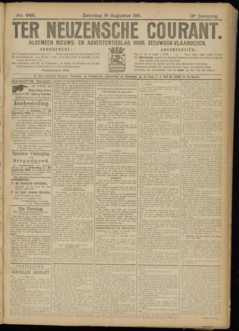 Ter Neuzensche Courant. Algemeen Nieuws- en Advertentieblad voor Zeeuwsch-Vlaanderen / Neuzensche Courant ... (idem) / (Algemeen) nieuws en advertentieblad voor Zeeuwsch-Vlaanderen 1916-08-19