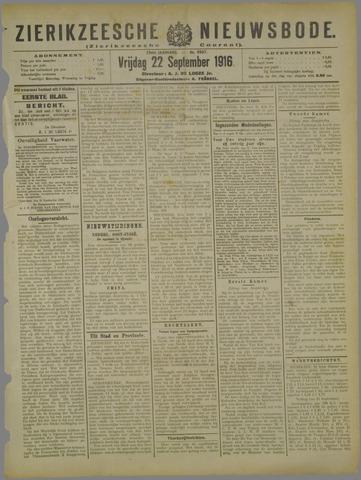 Zierikzeesche Nieuwsbode 1916-09-22