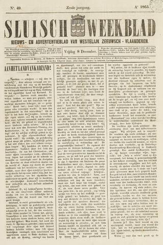 Sluisch Weekblad. Nieuws- en advertentieblad voor Westelijk Zeeuwsch-Vlaanderen 1865-12-08