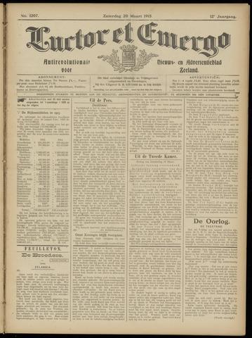 Luctor et Emergo. Antirevolutionair nieuws- en advertentieblad voor Zeeland / Zeeuwsch-Vlaanderen. Orgaan ter verspreiding van de christelijke beginselen in Zeeuwsch-Vlaanderen 1915-03-20