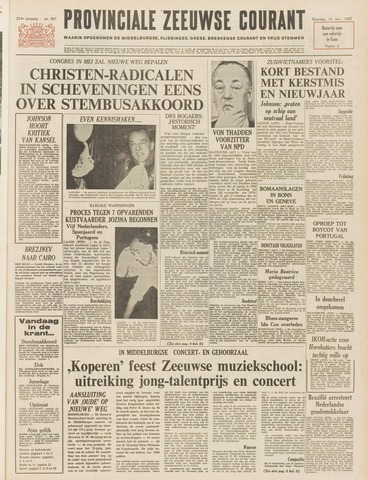 Provinciale Zeeuwse Courant 1967-11-13