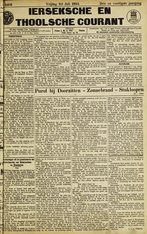 Ierseksche en Thoolsche Courant 1925-07-24