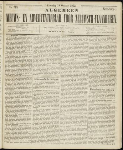 Ter Neuzensche Courant. Algemeen Nieuws- en Advertentieblad voor Zeeuwsch-Vlaanderen / Neuzensche Courant ... (idem) / (Algemeen) nieuws en advertentieblad voor Zeeuwsch-Vlaanderen 1872-10-19