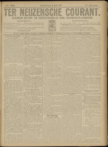 Ter Neuzensche Courant. Algemeen Nieuws- en Advertentieblad voor Zeeuwsch-Vlaanderen / Neuzensche Courant ... (idem) / (Algemeen) nieuws en advertentieblad voor Zeeuwsch-Vlaanderen 1917-07-05