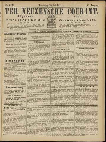 Ter Neuzensche Courant. Algemeen Nieuws- en Advertentieblad voor Zeeuwsch-Vlaanderen / Neuzensche Courant ... (idem) / (Algemeen) nieuws en advertentieblad voor Zeeuwsch-Vlaanderen 1912-07-25