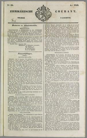 Zierikzeesche Courant 1844-08-09