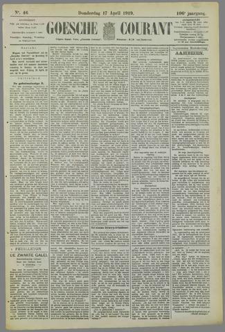 Goessche Courant 1919-04-17