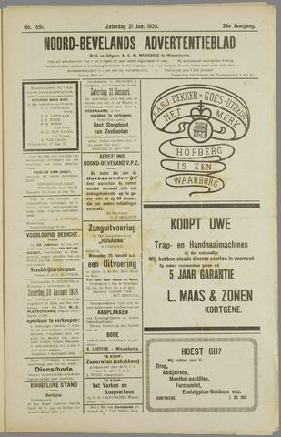 Noord-Bevelands Nieuws- en advertentieblad 1928-01-21