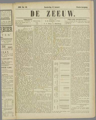 De Zeeuw. Christelijk-historisch nieuwsblad voor Zeeland 1890-01-16