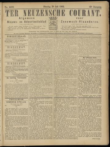 Ter Neuzensche Courant. Algemeen Nieuws- en Advertentieblad voor Zeeuwsch-Vlaanderen / Neuzensche Courant ... (idem) / (Algemeen) nieuws en advertentieblad voor Zeeuwsch-Vlaanderen 1903-07-28