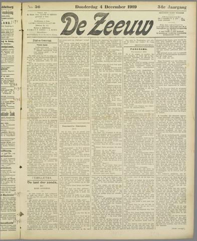 De Zeeuw. Christelijk-historisch nieuwsblad voor Zeeland 1919-12-04