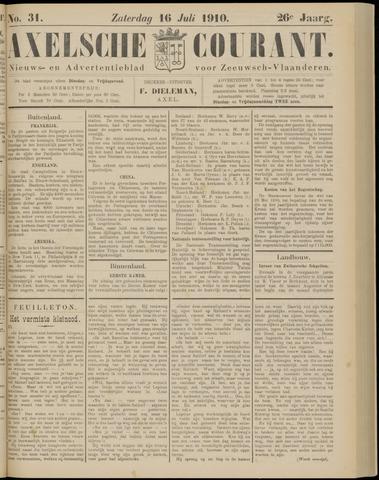 Axelsche Courant 1910-07-16