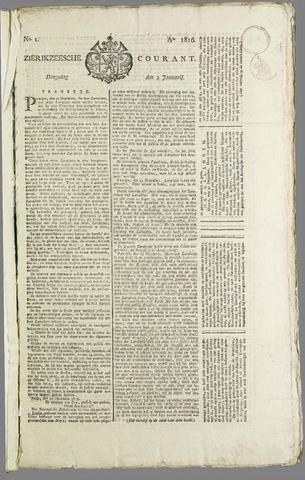 Zierikzeesche Courant 1816