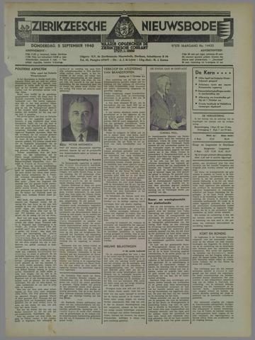 Zierikzeesche Nieuwsbode 1940-09-05