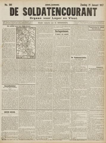 De Soldatencourant. Orgaan voor Leger en Vloot 1917-01-21