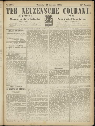 Ter Neuzensche Courant. Algemeen Nieuws- en Advertentieblad voor Zeeuwsch-Vlaanderen / Neuzensche Courant ... (idem) / (Algemeen) nieuws en advertentieblad voor Zeeuwsch-Vlaanderen 1893-12-20