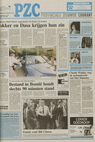 Provinciale Zeeuwse Courant 1992-07-21